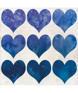Kimberly Allen, WATERCOLOR HEARTS III