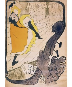 Henri de Toulouse-Lautrec, Lithographie Jane Avril. 1893.