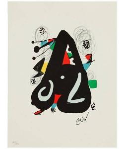 Miro Joan La Melodie Acide VII (Lithographie, steinsigniert)