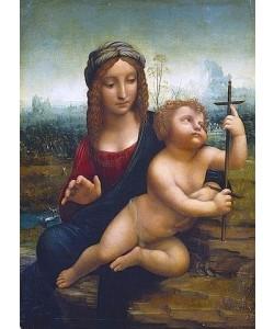 Leonardo da Vinci, Die Madonna mit der Spindel.