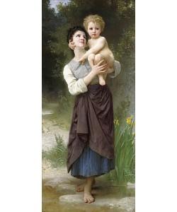William Adolphe Bouguereau, Bruder und Schwester (Frère et s?ur). 1887