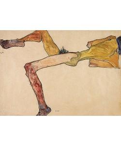 Egon Schiele, Liegender männlicher Akt. 1910