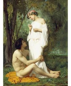 William Adolphe Bouguereau, Idylle. 1851-52