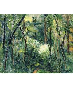 Paul Cézanne, Unterholz (Sous-bois). Um 1885