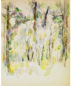 Paul Cézanne, Unterholz (Sous-bois). Um 1900-04