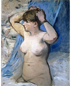 Édouard Manet, Frau beim Frisieren (Femme nue se coiffant). 1879