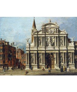 Canaletto (Giovanni Antonio Canal), Die Kirche Santa Maria Zobenigo und der Platz davor, Venedig.