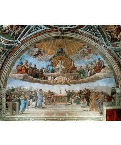 Raffael (Raffaello Sanzio), Disput über das Sakrament (Disputa del Sacramento). 1509-11