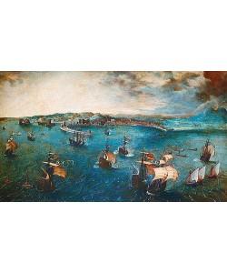 Pieter Brueghel d.Ä., Der Hafen von Neapel. Um 1560