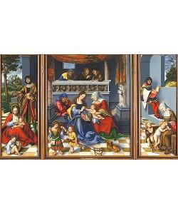 Lucas Cranach d.Ä., Die Heilige Sippe (sog. Torgauer Altar). 1509