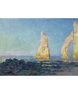 Claude Monet, Die Nadel von Etretat, Ebbe (Aiguille d'Étretat, marée basse). 1883