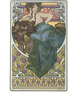 Alfons Mucha, Tafel 47 aus dem Buch 'Documents Decoratifs'. 1902