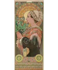 Alfons Mucha, Chardon de greves (Distel). Um 1901