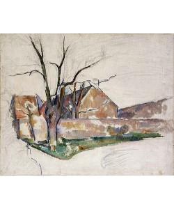 Paul Cézanne, Landschaft im Winter (Paysage d'Hiver). Um 1885