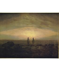 Caspar David Friedrich, Zwei Männer am Meer bei Sonnenuntergang. Um 1817