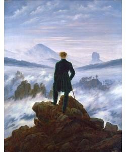 Caspar David Friedrich, Der Wanderer über dem Nebelmeer. Um 1818