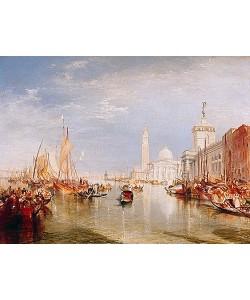 Joseph Mallord William Turner, Venedig, Dogana und San Giorgio Maggiore. 1834