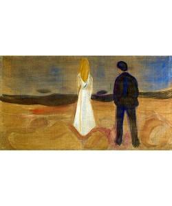 Edvard Munch, To mennesker. De ensomme (Reinhardt-frisen). / Zwei Menschen. Die Einsamen (Der Reinhardt-Fries). 1906/07