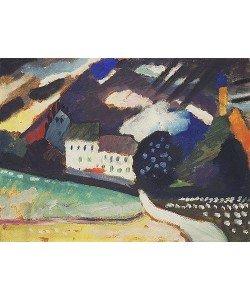 Wassily Kandinsky, Murnau, Schloss und Kirche II. Ca. 1909.