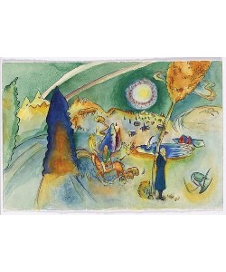 Wassily Kandinsky, Aquarell für Poul Bjerre. 1916.