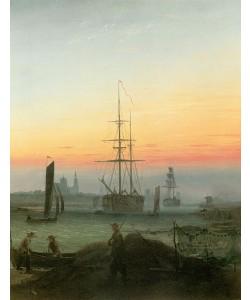 C.D. Friedrich, HAFEN VON GREIFSWALD