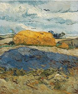 Vincent van Gogh, Heuschober an einem Regentag. Auvers-sur-Oise. Juli 1890