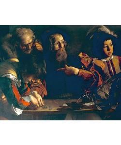 Michelangelo Merisi da Caravaggio, Die Berufung des Heiligen Matthäus. Detail. 1599/1600.