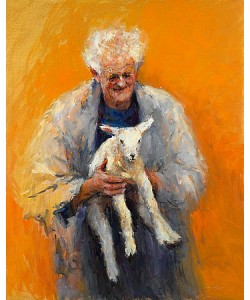 Dinie Boogaart, Old man with lamb
