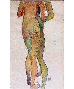 Egon Schiele, Zwei Stehende Akte. 1913