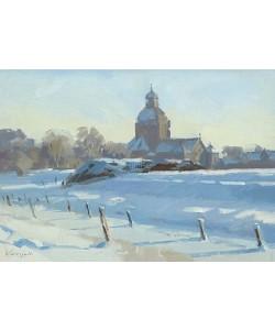 Hans Versfelt, Snow landscape with church