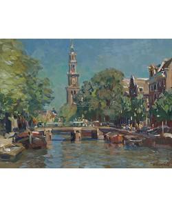 Hans Versfelt, Westerkerk on a summer day