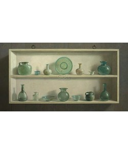 Henk Helmantel, Roman glass in cupboard