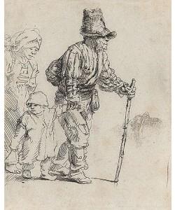 Rijn van Rembrandt, Rondtrekkende boeren familie