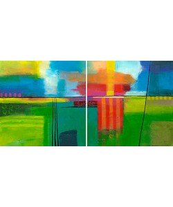 Y. Hope, Sunny day (diptych)