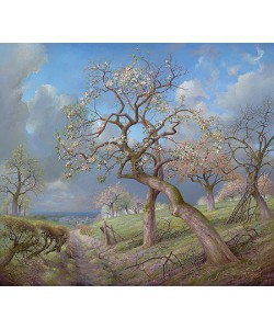 Patrick Creyghton, Blooming apple trees near the Meuse valley