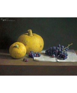 Henk Helmantel, Still life with grapes and pumpkins
