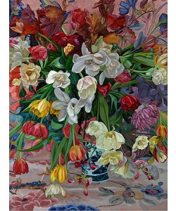 Theo Leijdekkers, Vase with colored flowers
