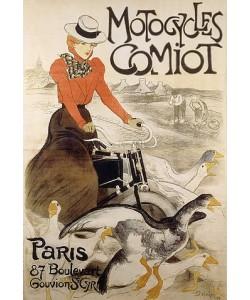 Théophile-Alexandre Steinlen, Werbeplakat für 'Motorcycles Comiot'. Gedruckt bei Charles Verneau, Paris. 1899