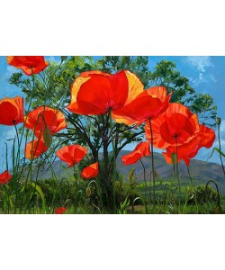 Theo Leijdekkers, Poppies, tree or mountain