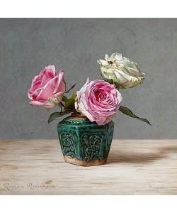 Roman Reisinger, Still life with roses