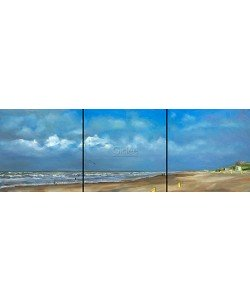 Ans Smits, Beach north triptych