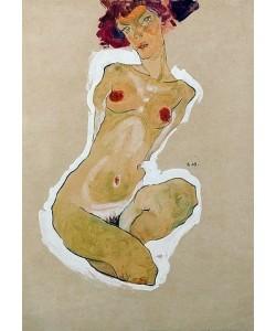 Egon Schiele, Hockender weiblicher Akt. 1910