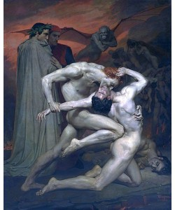 William Adolphe Bouguereau, Dante und Vergil in der Hölle. 1850
