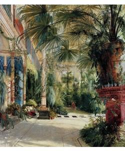 Das Innere des Palmenhauses, Karl Blechen