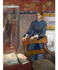 Edgar Degas, Hélène Rouart im Arbeitszimmer ihres Vaters. Um 1886