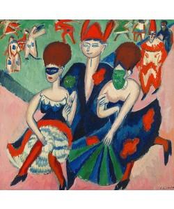 Ernst Ludwig Kirchner, Maskentänzer. 1911.