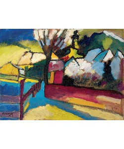 Wassily Kandinsky, Herbstlandschaft mit Baum. 1910
