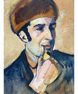 August Macke, Bildnis Franz Marc. 1910