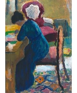 August Macke, Elisabeth am Schreibtisch. 1909/10