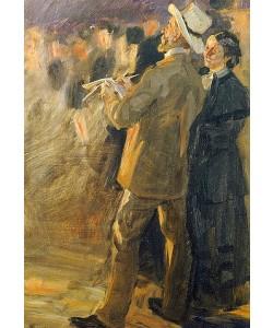 Peter Severin Kroyer, Der Künstler Laurits Tuxen (1853-1927) mit seiner Frau auf dem St. Hans Bal, Skagen. 1893